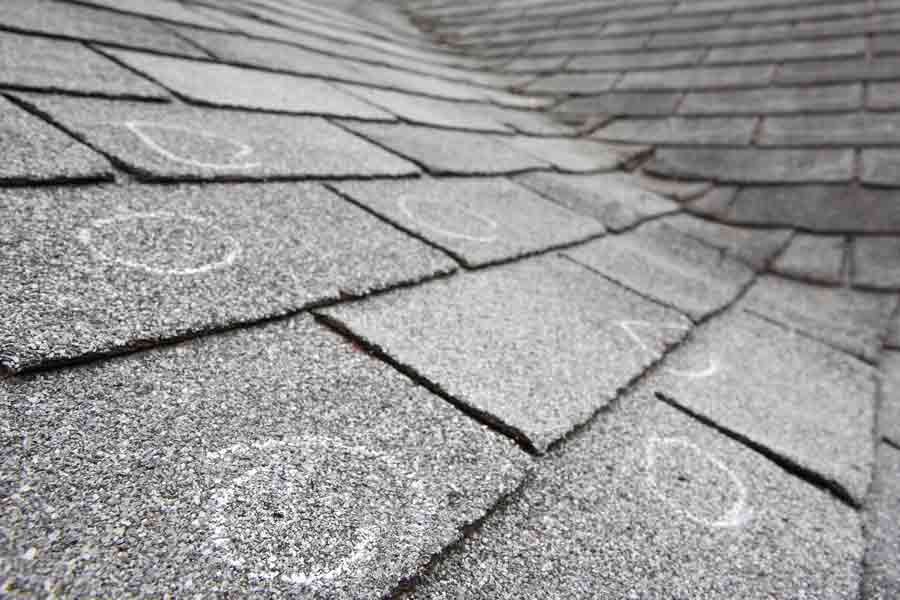 The damage caused by hail can be extensive and easily overlooked from the ground.