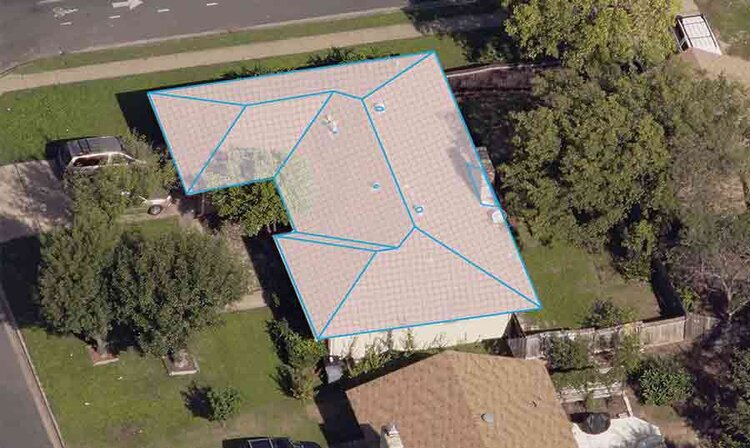 Roof Measurements - JGL Roofing uses the latest technology to quickly provide you with an estimate that is more accurate. Satellite imagery, similar to what you see in Google Maps™, allows us to measure the area of your roof and identify each hip, valley, and ridge with precision.