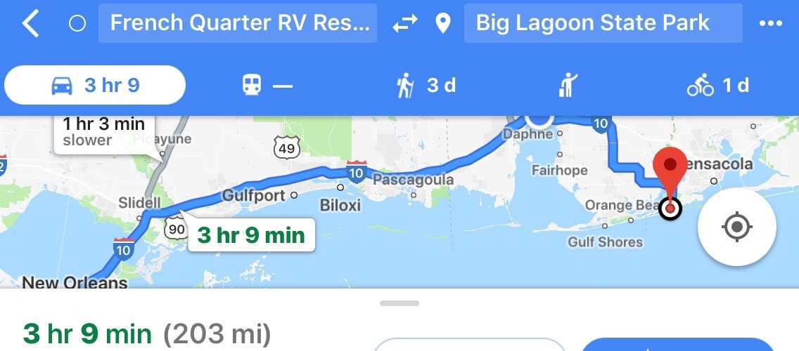 Today's travels.