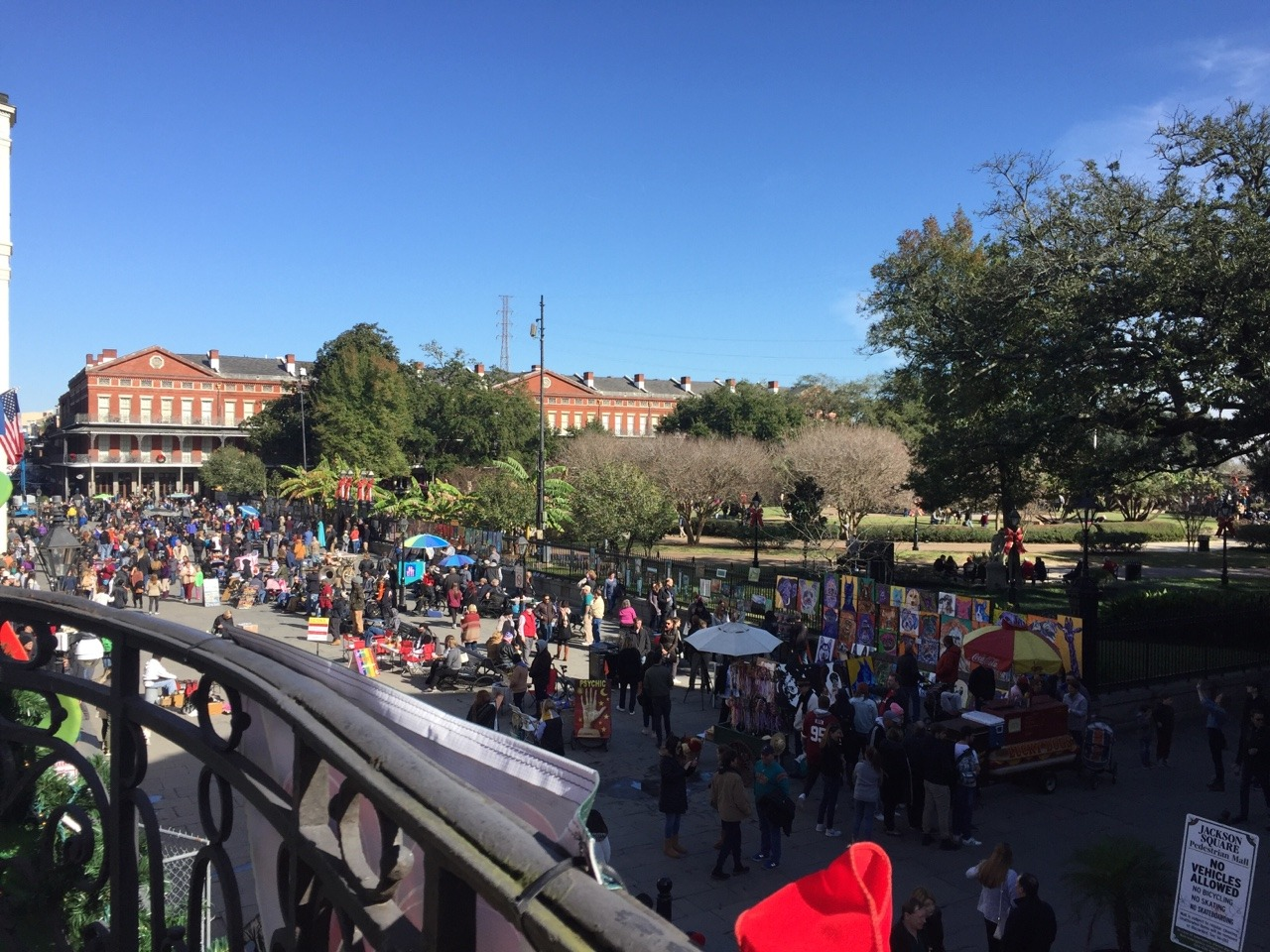 View from Tableau over Jackson Square.