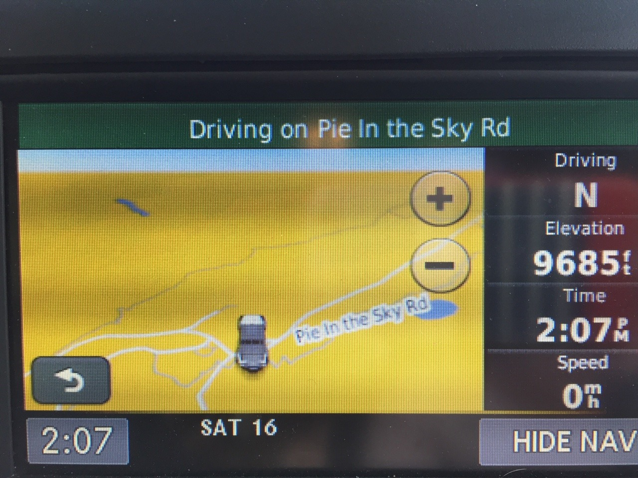 Very, very sad to find NO pie in the sky. Life lesson.