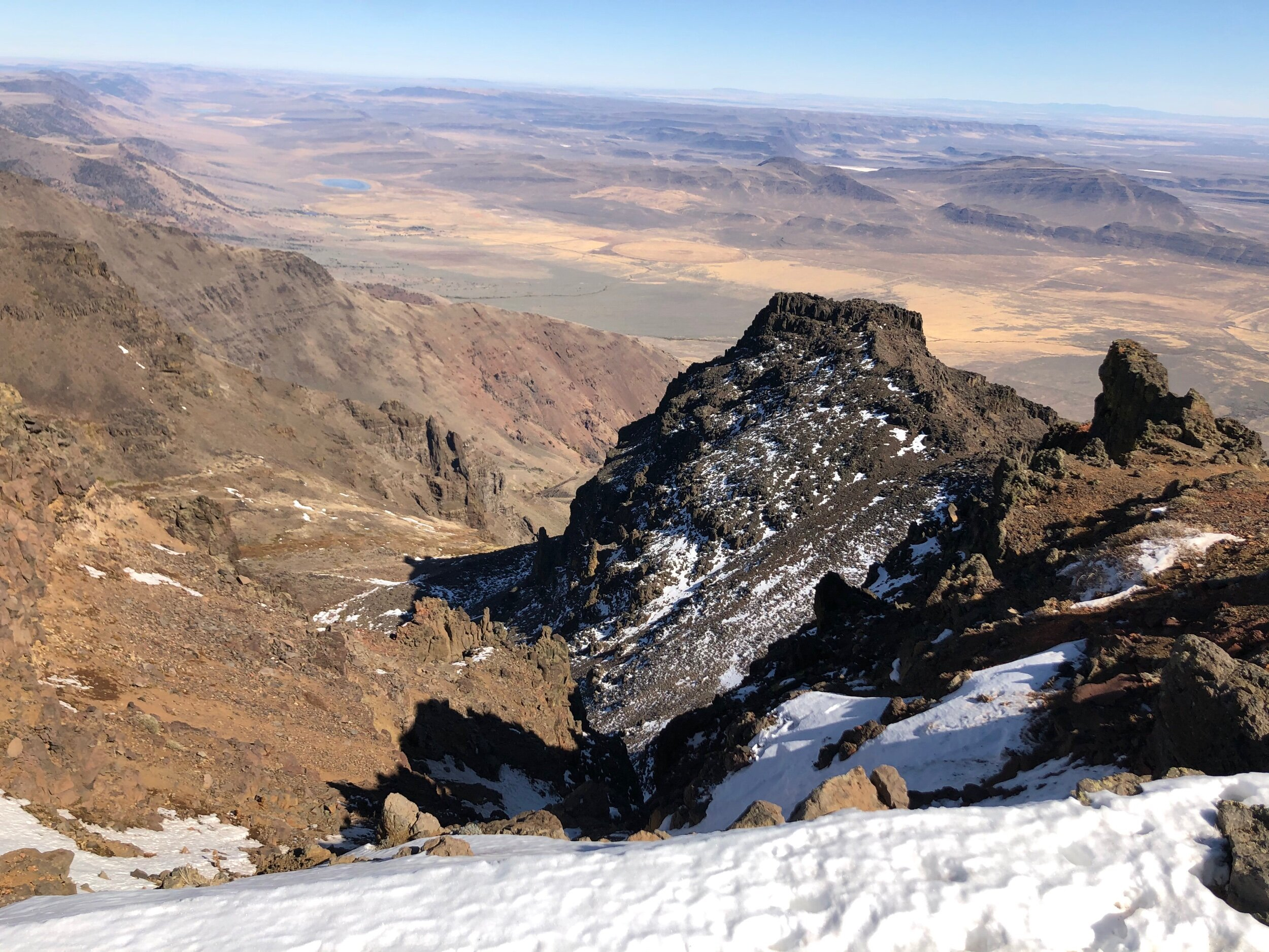 View toward Alford Desert from top of Steens Mountain.