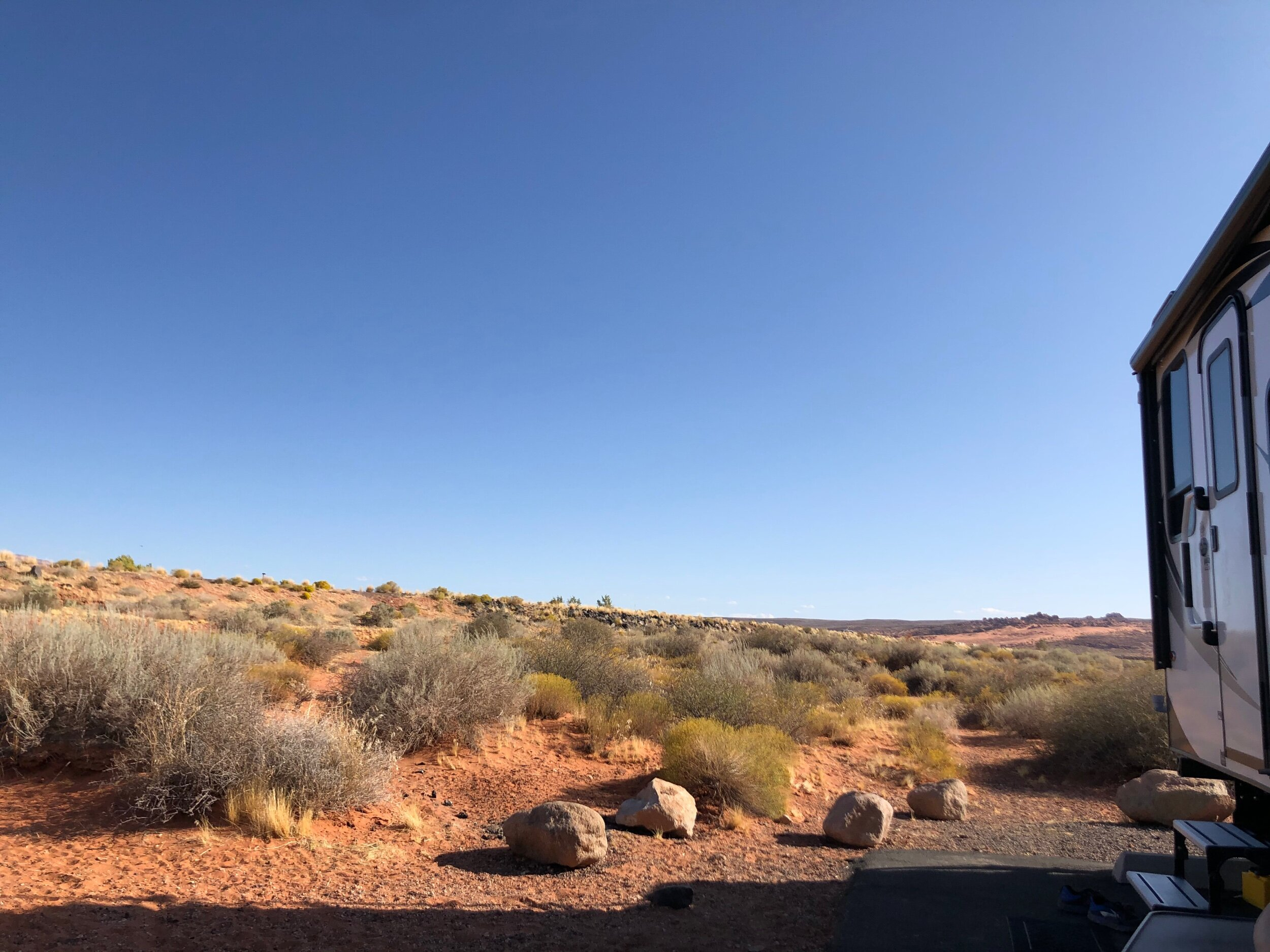 View from our site in Sand Hollow.