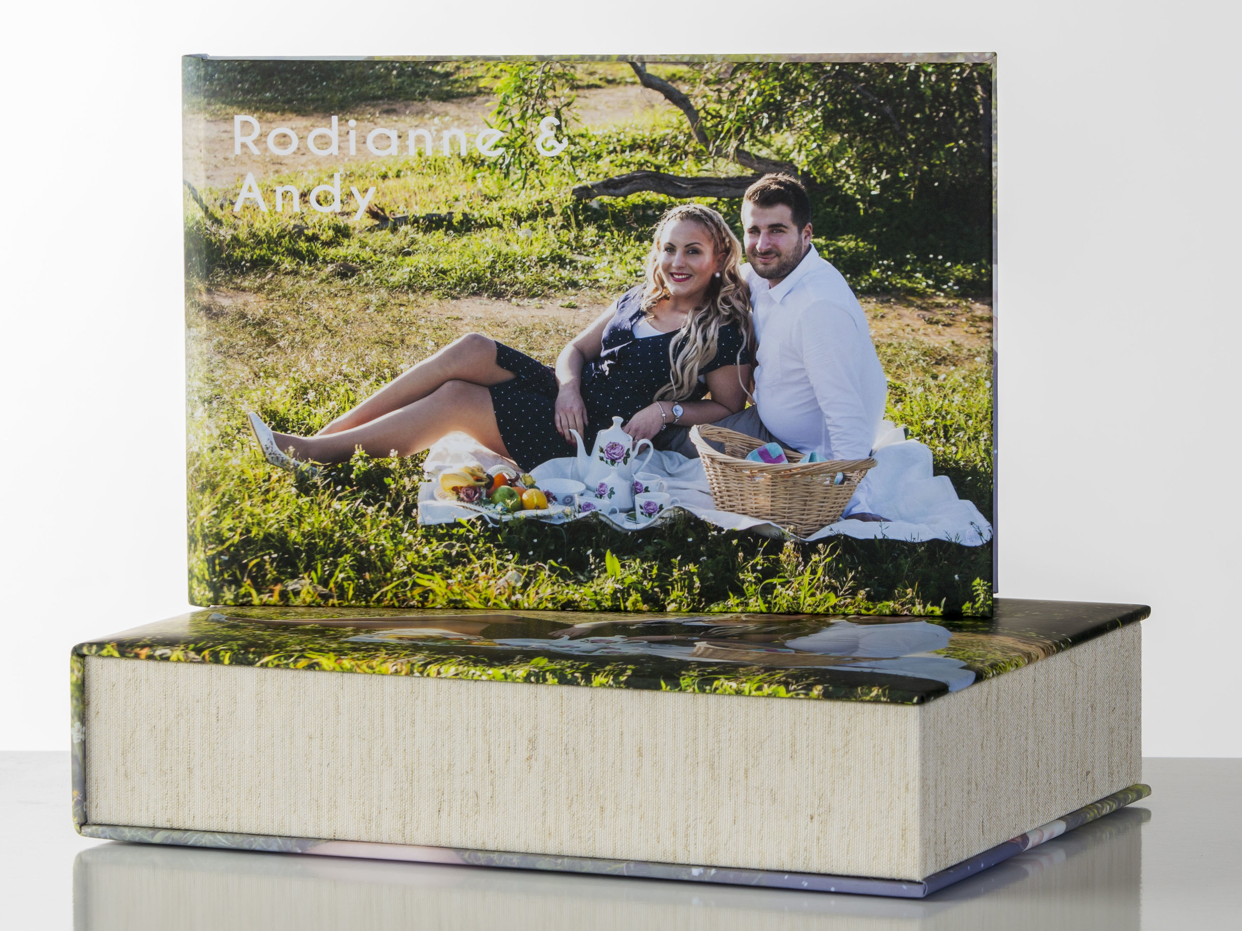 Guest Book - Sizes:12x8Cover Materials:Leather, Acrylic, Image Wrap Around, Leatherette, and TextureOther Options:Personalised Box