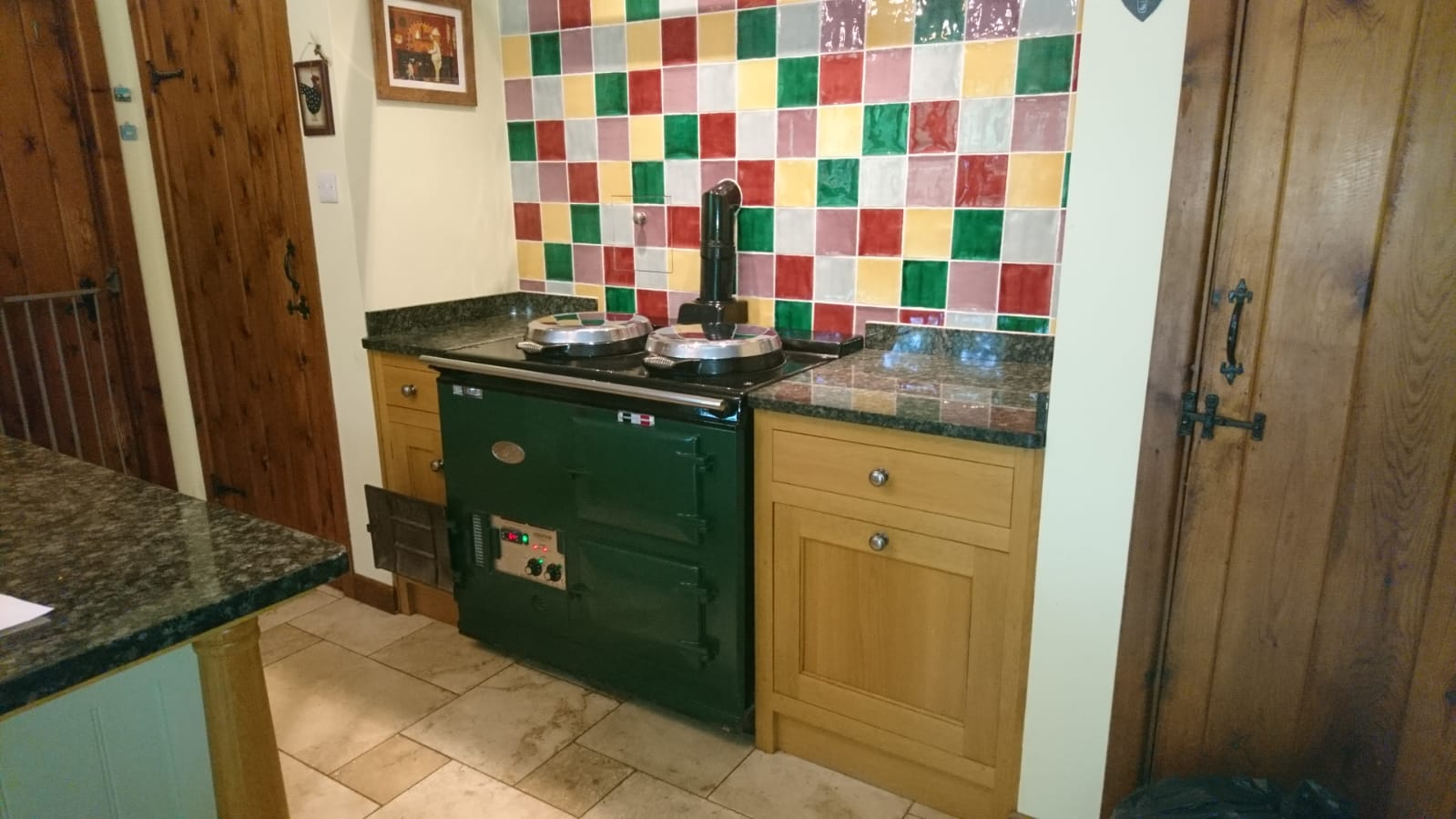 A classic aga conversion, all the charm of the original cooker but with 21st century control . Plus no more servicing required and one less unsightly oil tank