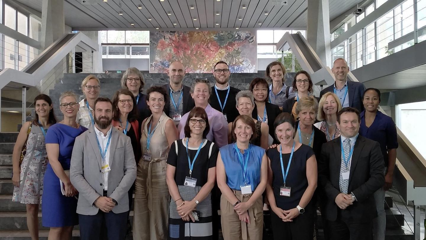 Darren Brown attended the 2nd global meeting of Rehabilitation 2030 at the World Health Organization, Geneva, 2019. This picture includes global Physiotherapists #GlobalPT in attendance