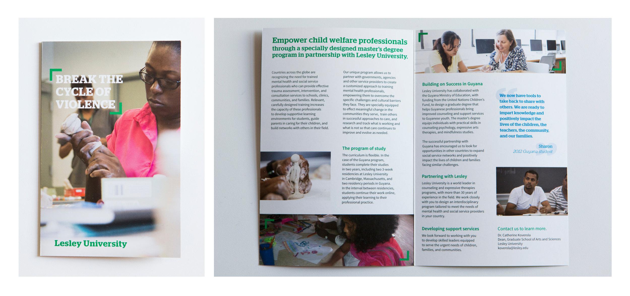 Guyana program piece designed for prospective master's degree students (2013)