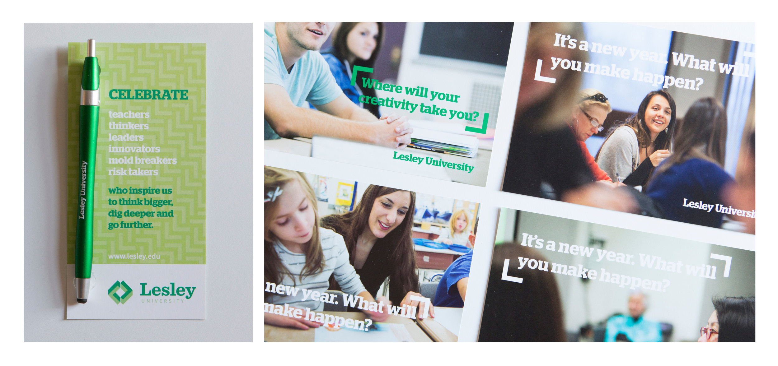 Undergraduate and Graduate admissions marketing material designs (2013)