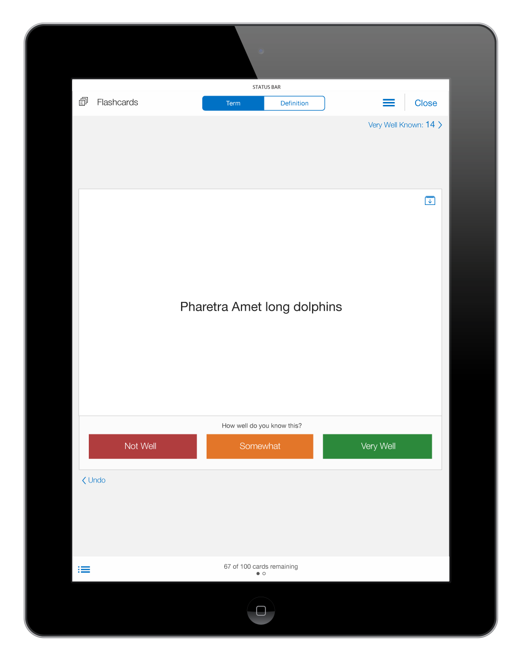 Flashcard mini app