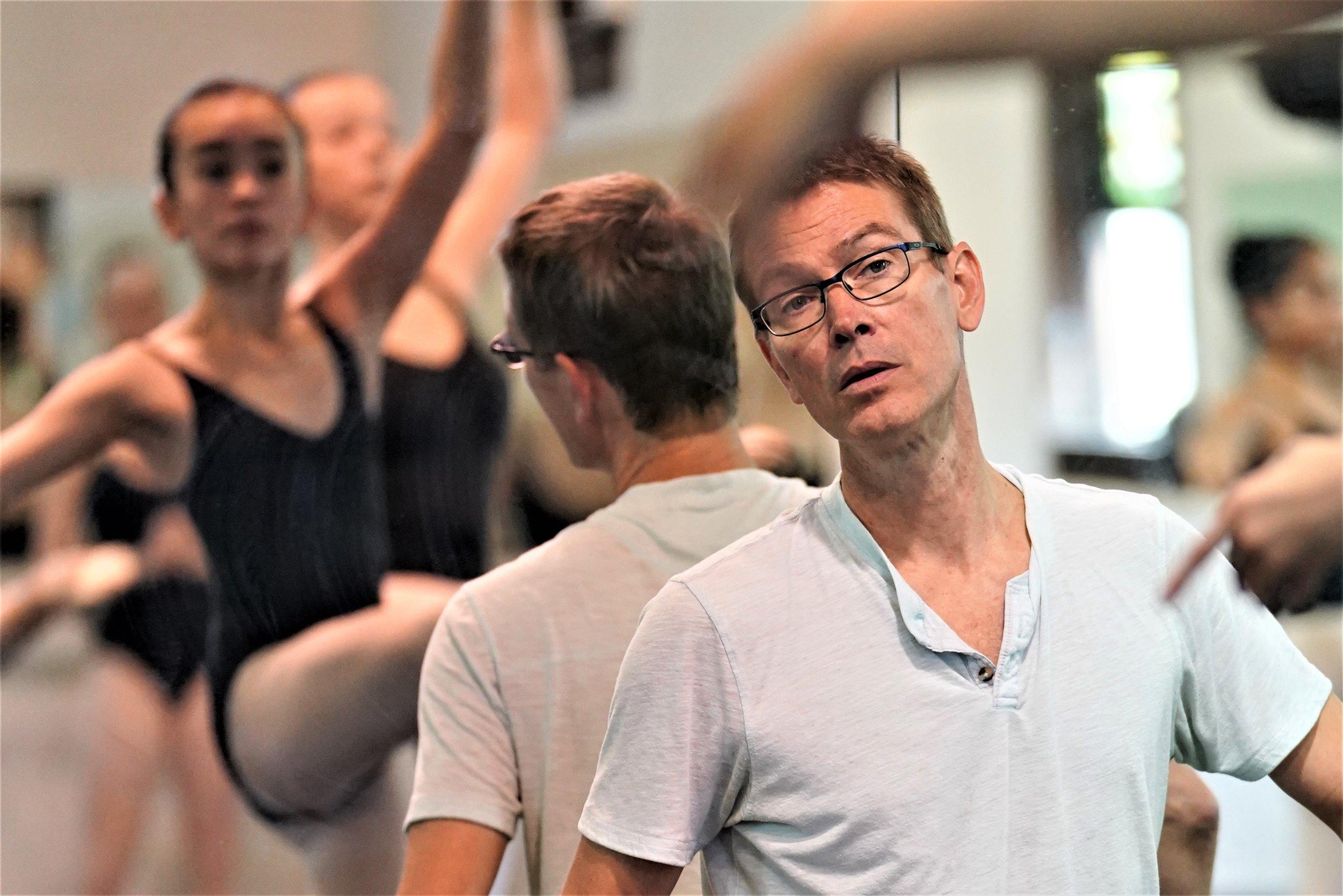 Summer Faculty Member Laszlo Berdo teaching Fourth & Fifth Year Dancers