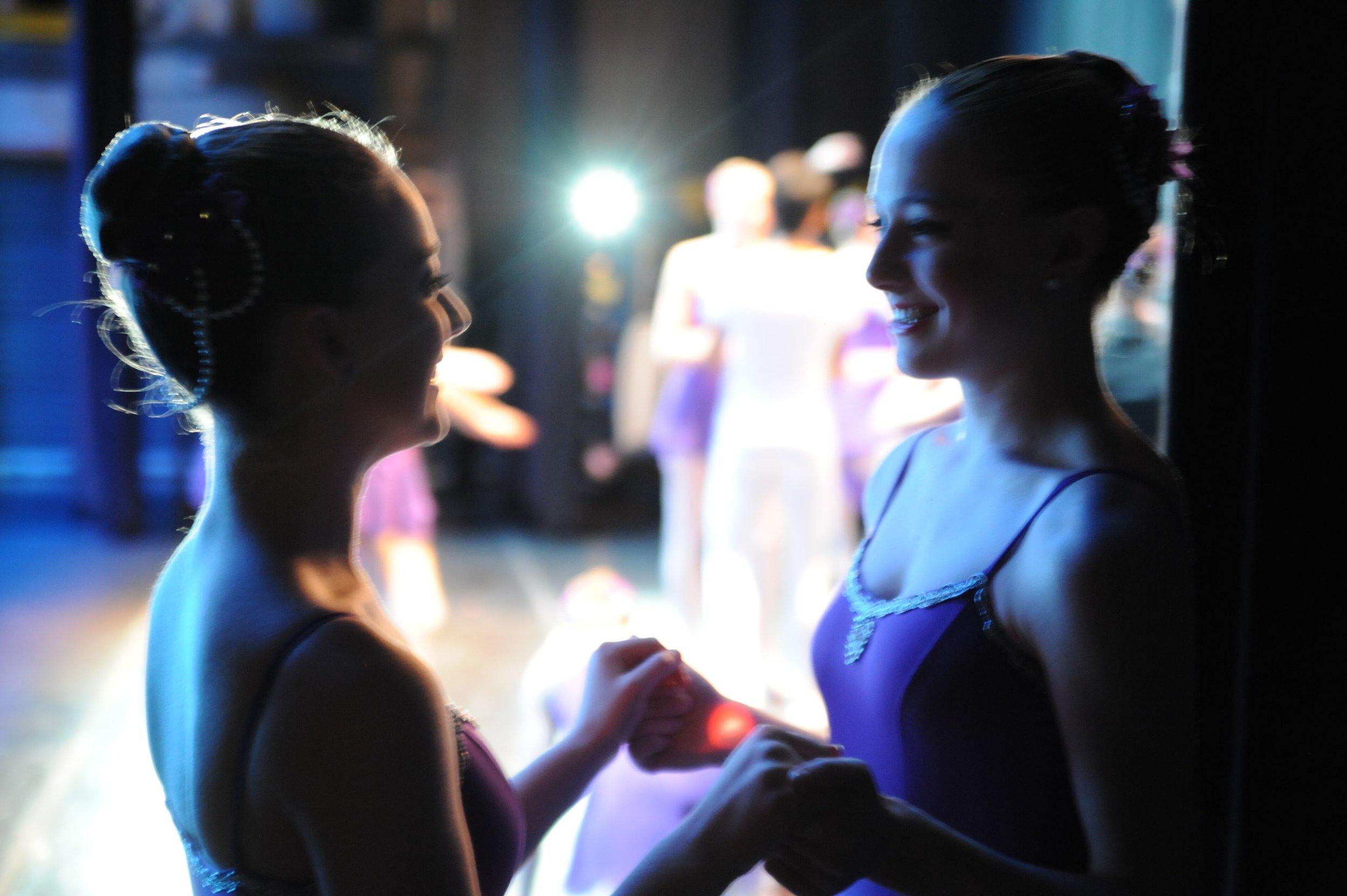 Megan Meehan and Megan McDonald Dancers Backstage