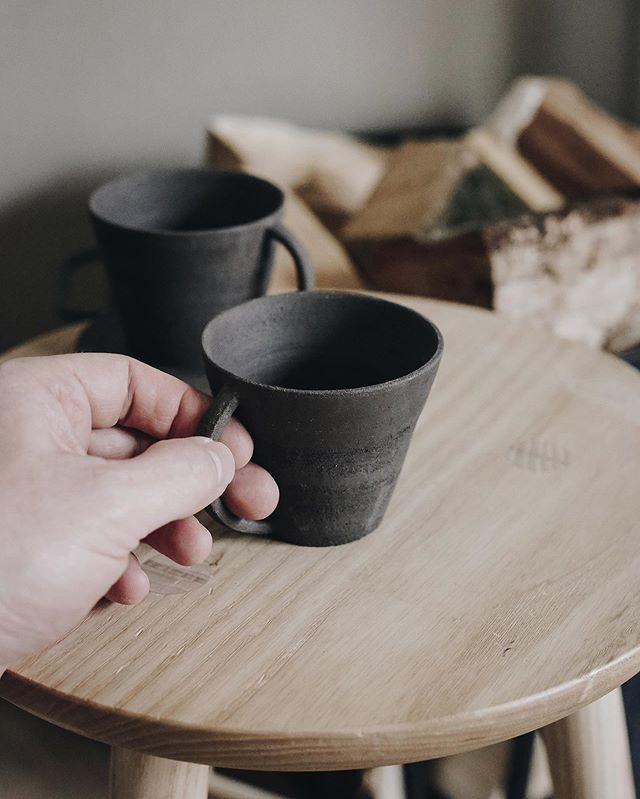 Small black cups . . . #ceramics #ceramicsstudio #tableware #maker #wheelthrowing #craft #handmade #kinfolk #makerspace #claylife #simplelife #design #process #make #pottery #keramik #clay #madeinscotland #kinfolkhome #vsco #tools #studio #samuelsparrow #makersmovement #potter #potterstools #sqspcustomer