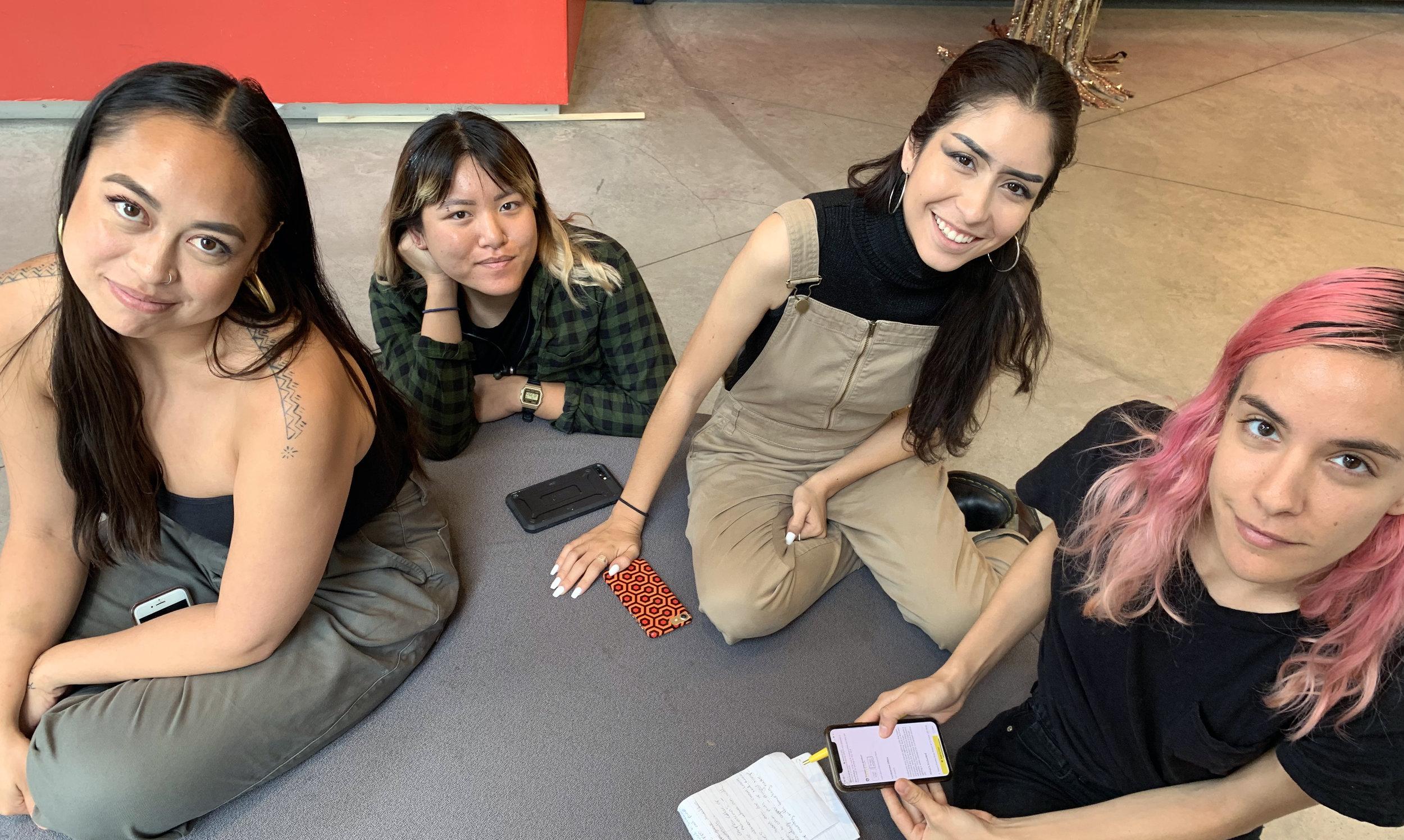 2019 SUMMER CREW    Caroline Garcia , Performance Artist  Collaborator:  Sonia Colunga  (The New School)  Mentees via New York Arts Practicum:  Sam Fresquez  (Arizona State University),  Vivienne Le  (Stanford)