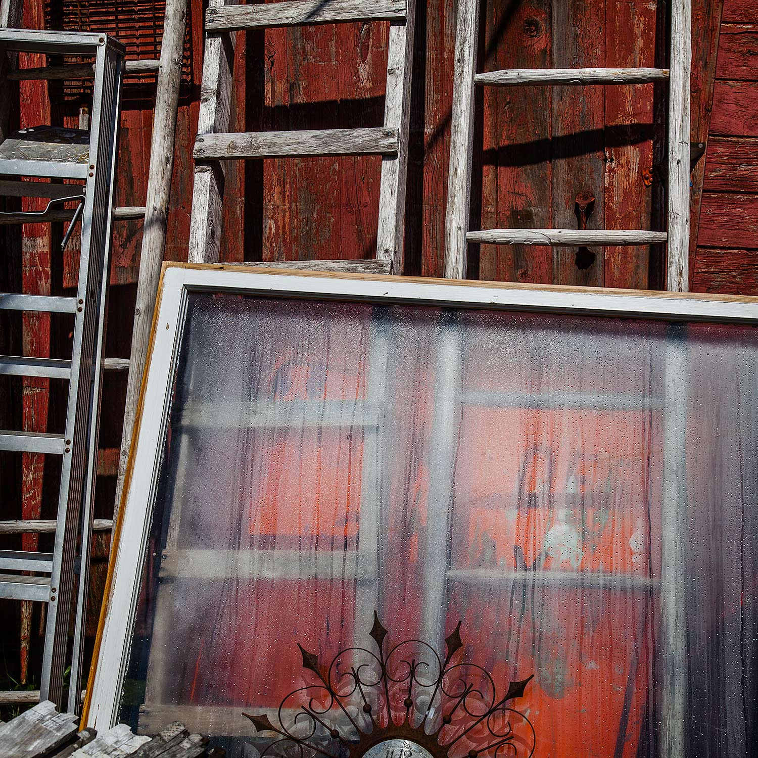 Window and Ladders, Searsport, Maine, 2014