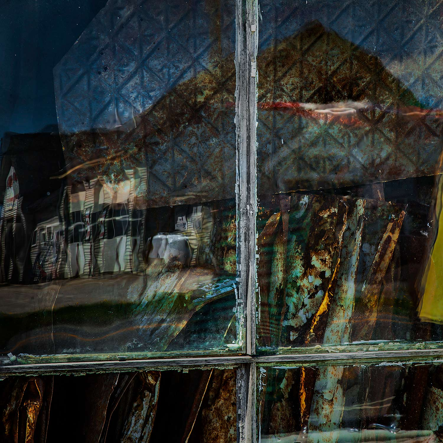 Window and Reflections, Searsport, Maine, 2014