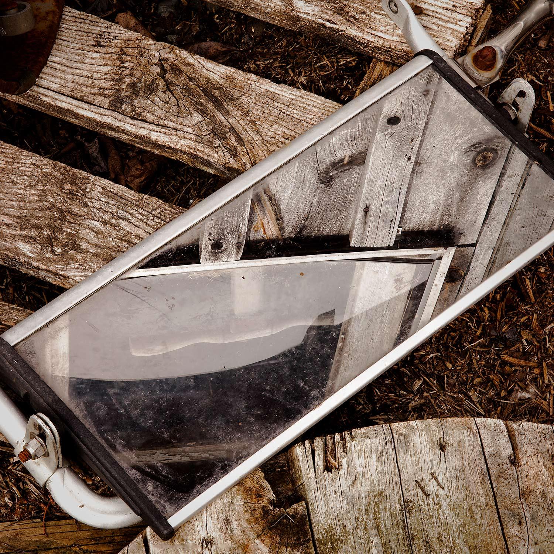 Mirror and Wood, Bar Harbor, Maine, 2014