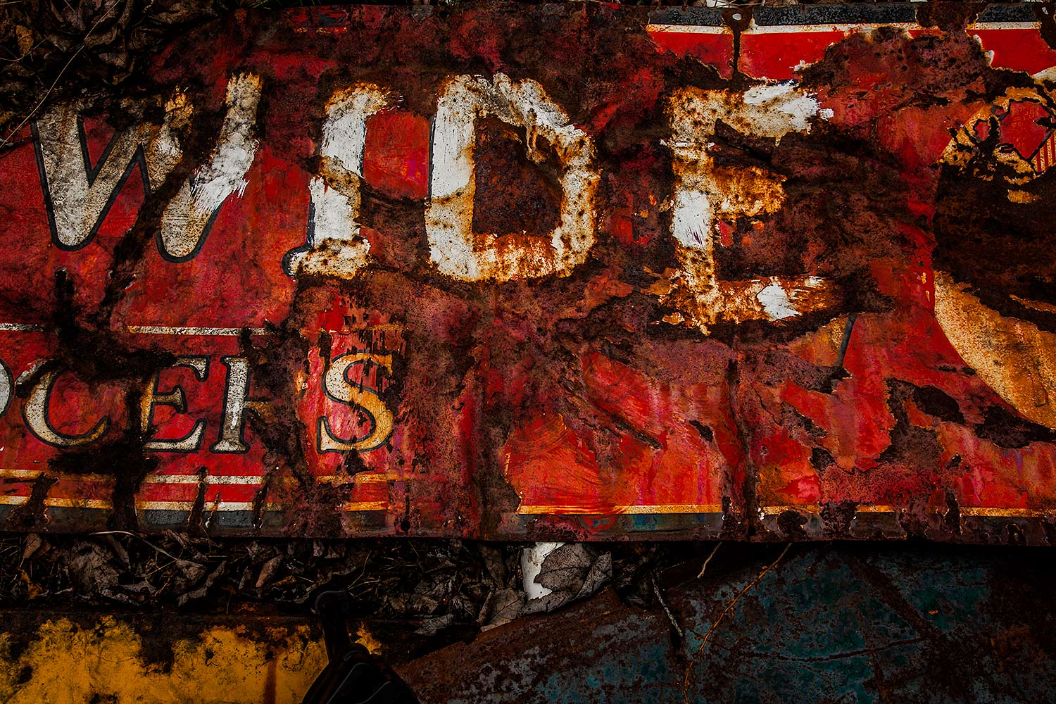 Rusted Sign, Bar Harbor, Maine, 2014