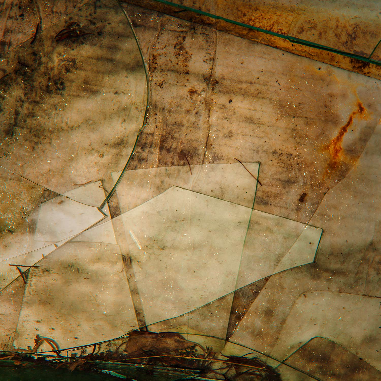 Broken Glass, Cardboard, Bar Harbor, Maine, 2014