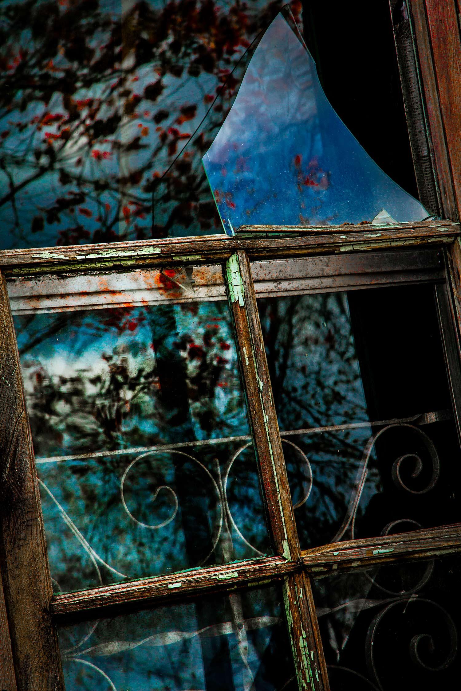 Broken Glass and Door, Bar Harbor, Maine, 2010