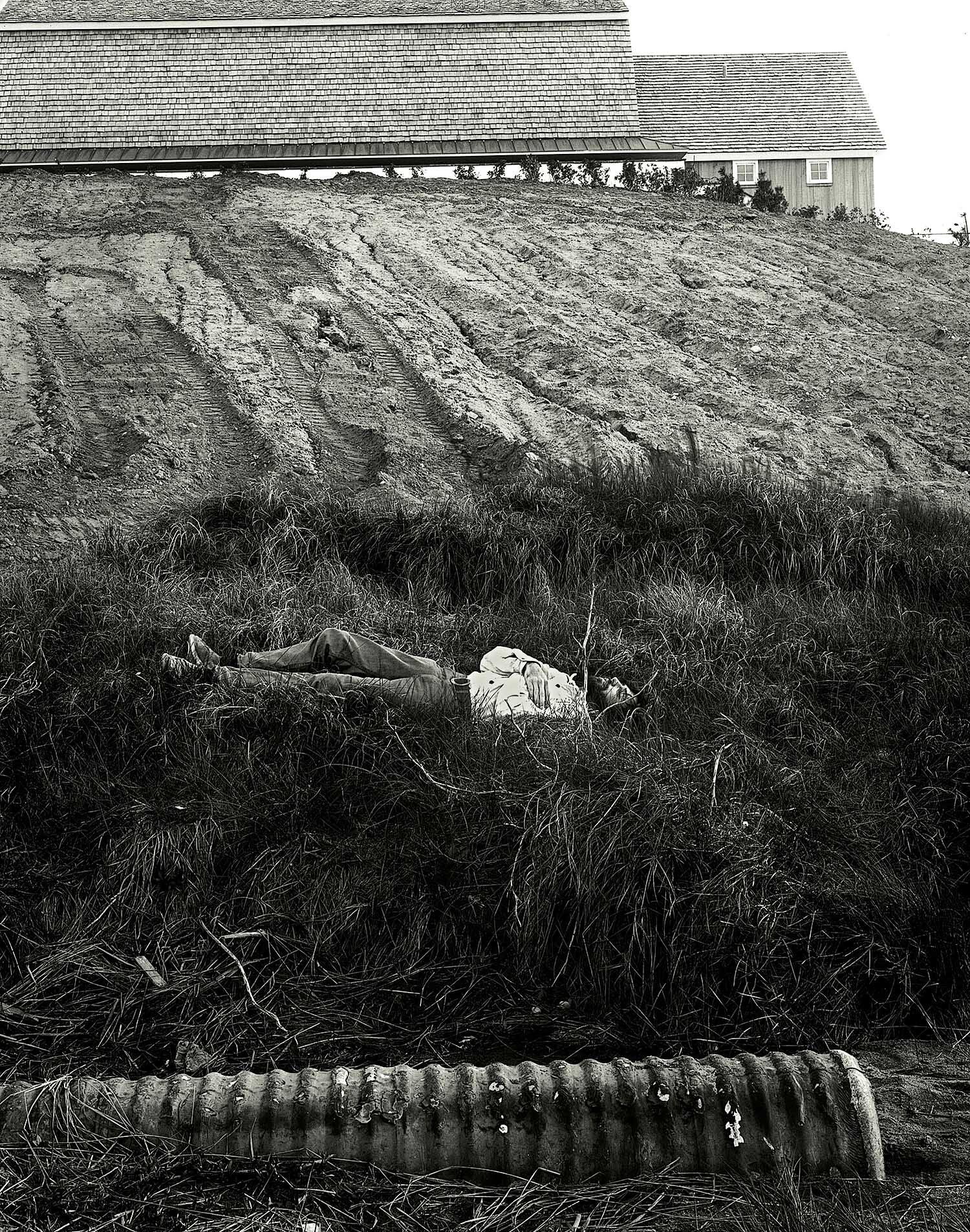 Self Portrait, Montauk Point, 1970
