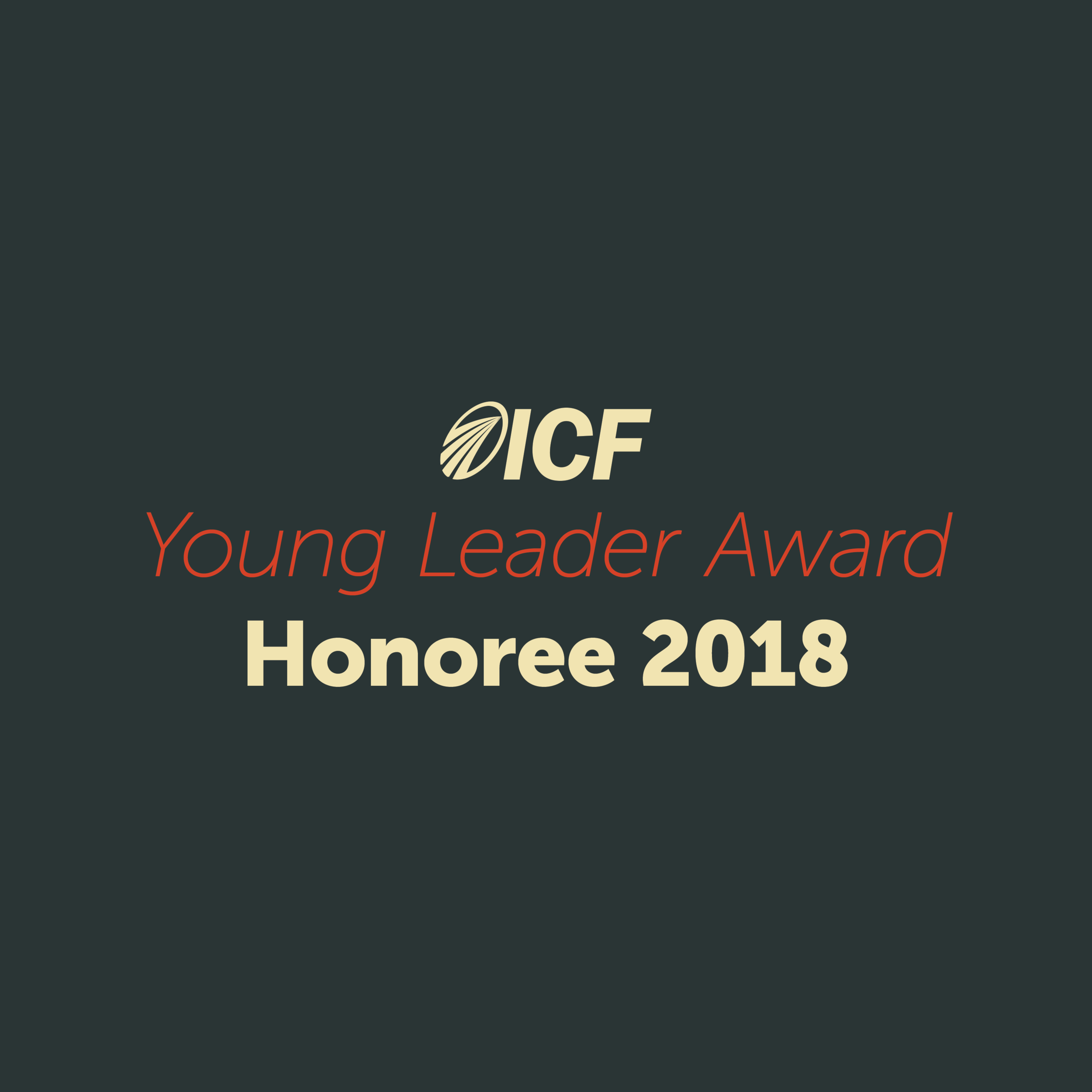 I was chosen as one of the first Young Coach Leaders out of ICF's 33,000 global members. I was the only North American coach who received the honor, which is awarded to coaches under 40 years old.