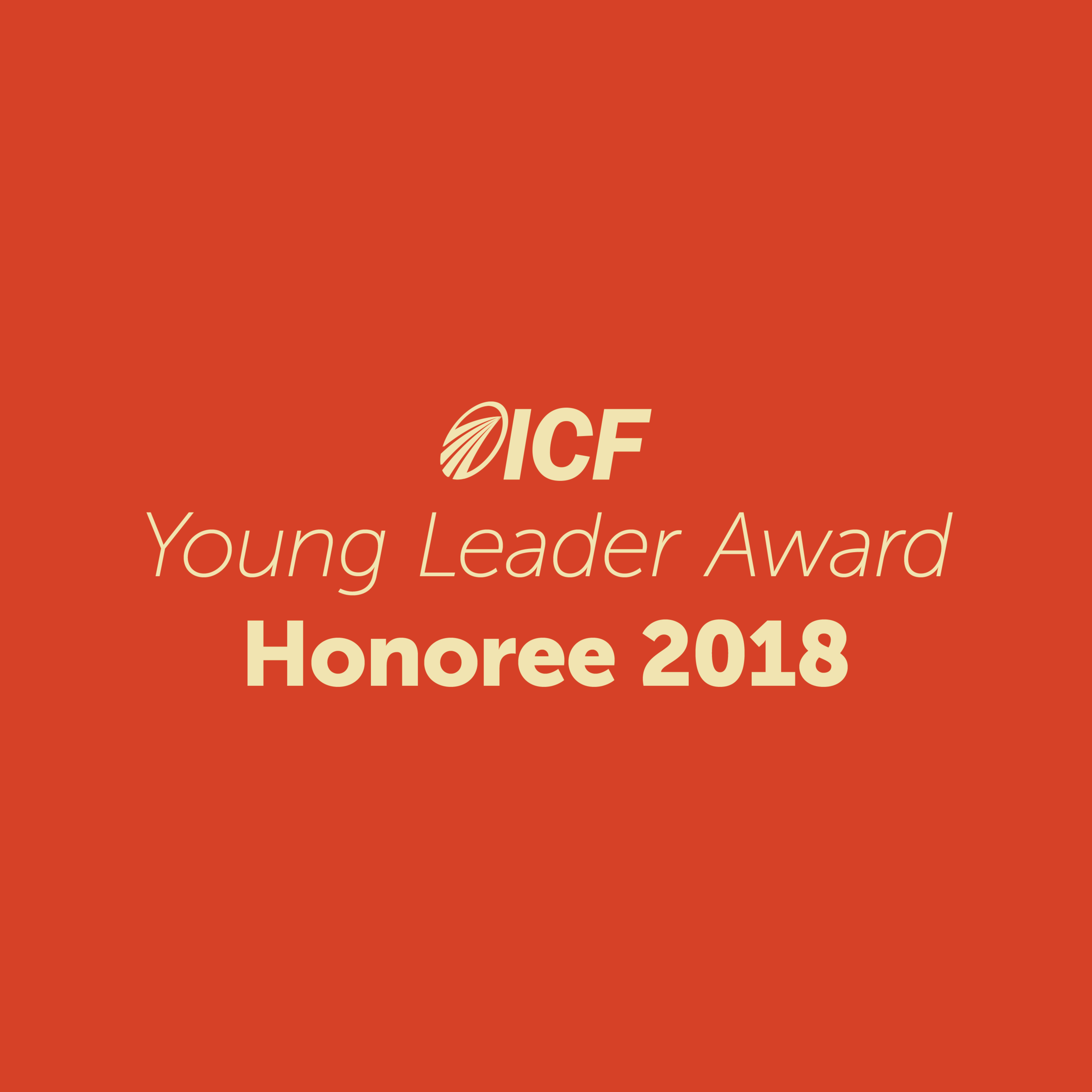 I was been chosen as one of the first Young Coach Leaders out of ICF's 33,000 global members. I was the only North American coach who received the honor, which is awarded to coaches under 40 years old.