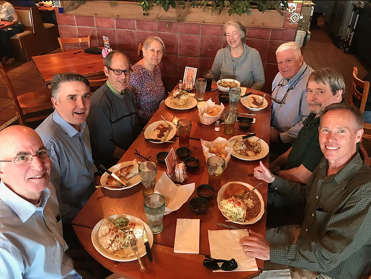 A celebratory lunch after the Board of Supervisors meeting