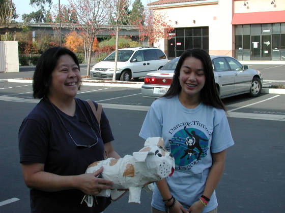 Glorianne Wong, daughter Lisa Wong, and Little Funston