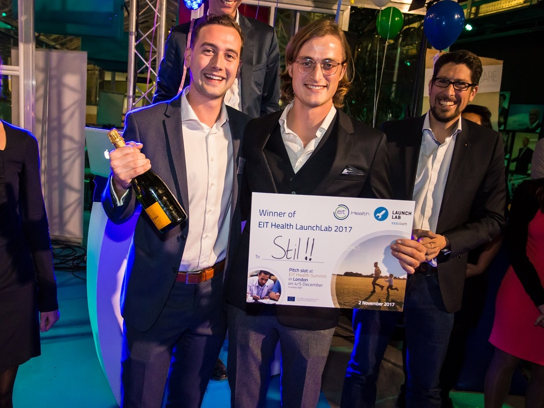 Winner of the EIT Health LaunchLab - November 2017STIL participated in the EIT Health Validation program. During this 8-week program the business potential was discovered and the idea of an anti-tremor brace was validated. STIL completed the program very well by winning the pitching contest!