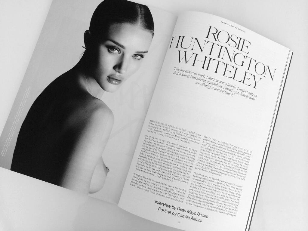 ROSIE HUNTINGTON-WHITELEY: FROM TALENT TO BRAND