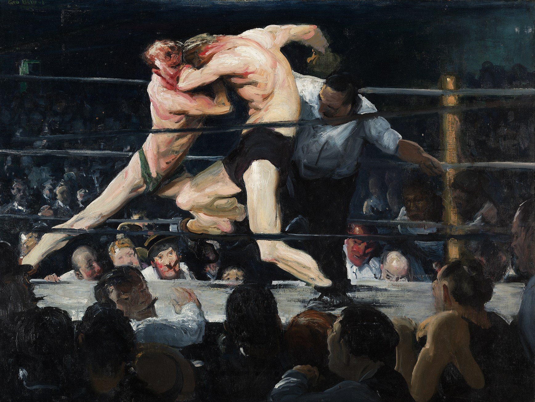 GEORGE BELLOWS, STAG AT SHARKEY'S, 1909, OIL ON CANVAS, 920 x 1226 mm, THE CLEVELAND MUSEUM OF ART