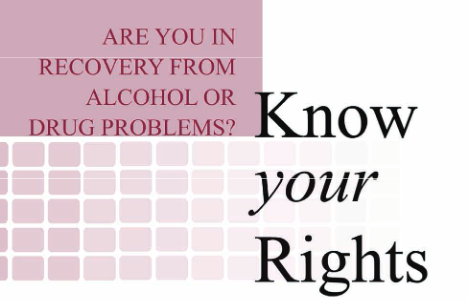 Know Your Rights for Individuals on Medication Assisted Treatment