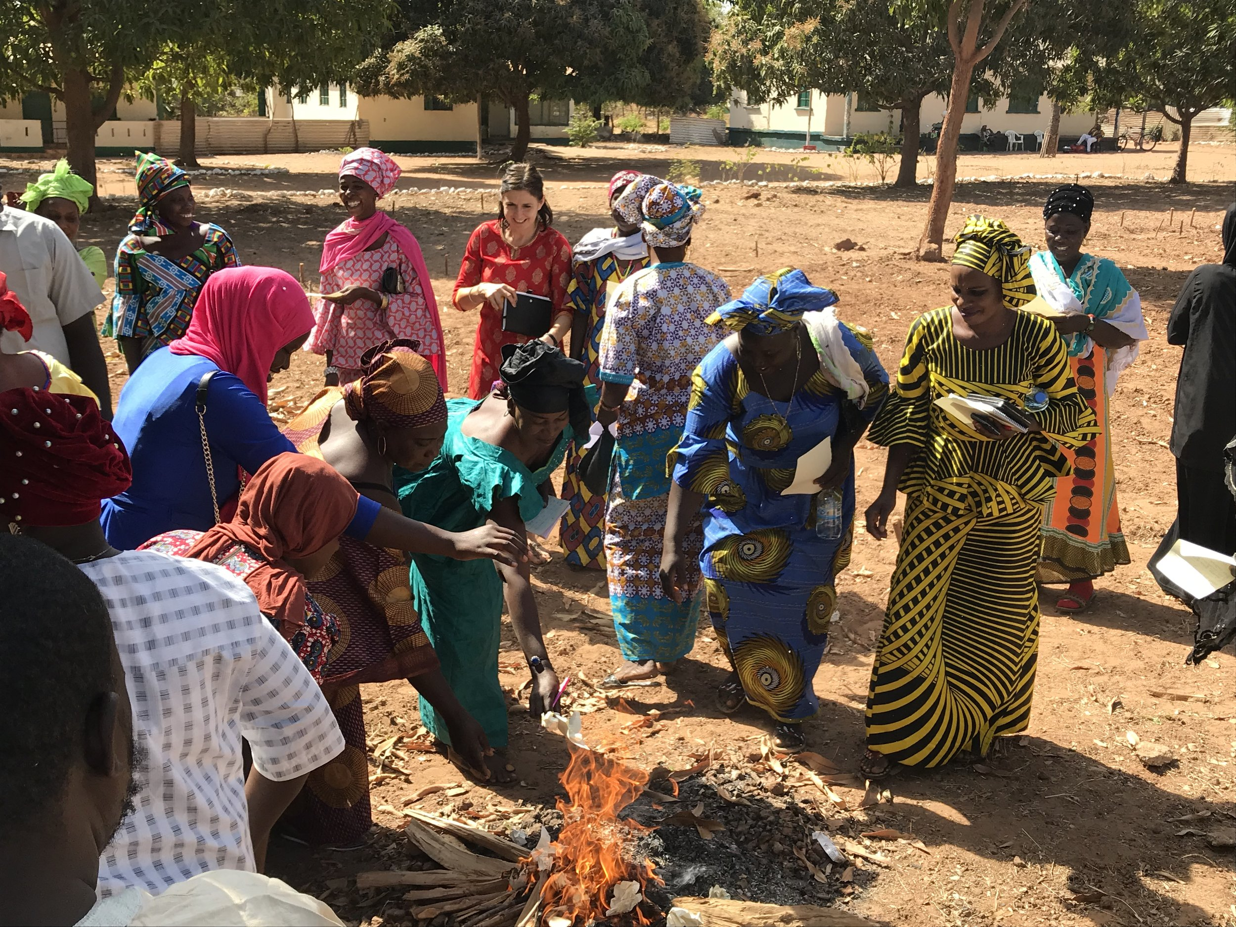A confidence building exercise with women from marketing federations in The Gambia