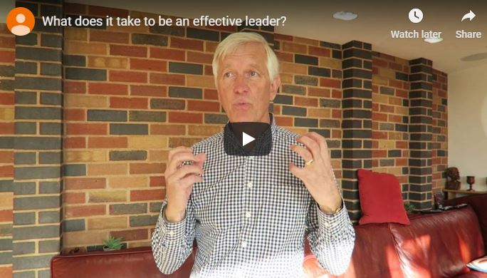 effective leadership - Richard Harvey, one of our Advisors, speaks here about what it takes to be an effective leader.