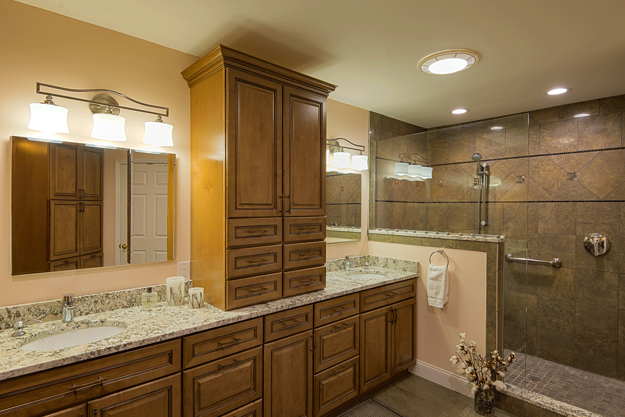 bathroom remodel with cabinets