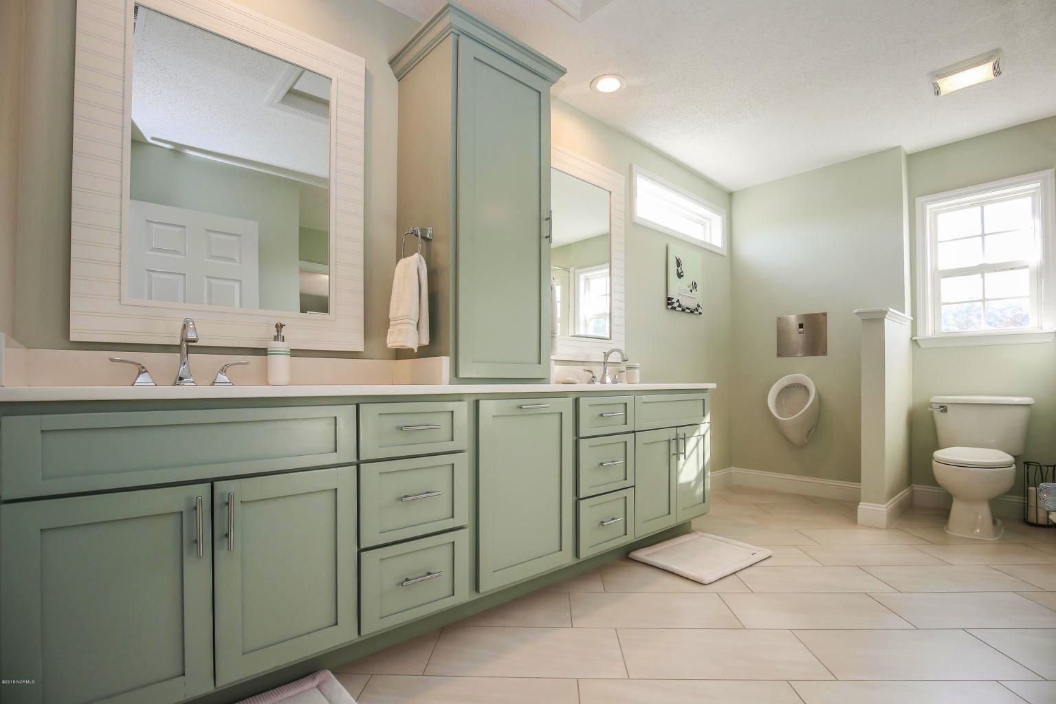 master bathroom remodel with double sink vanity