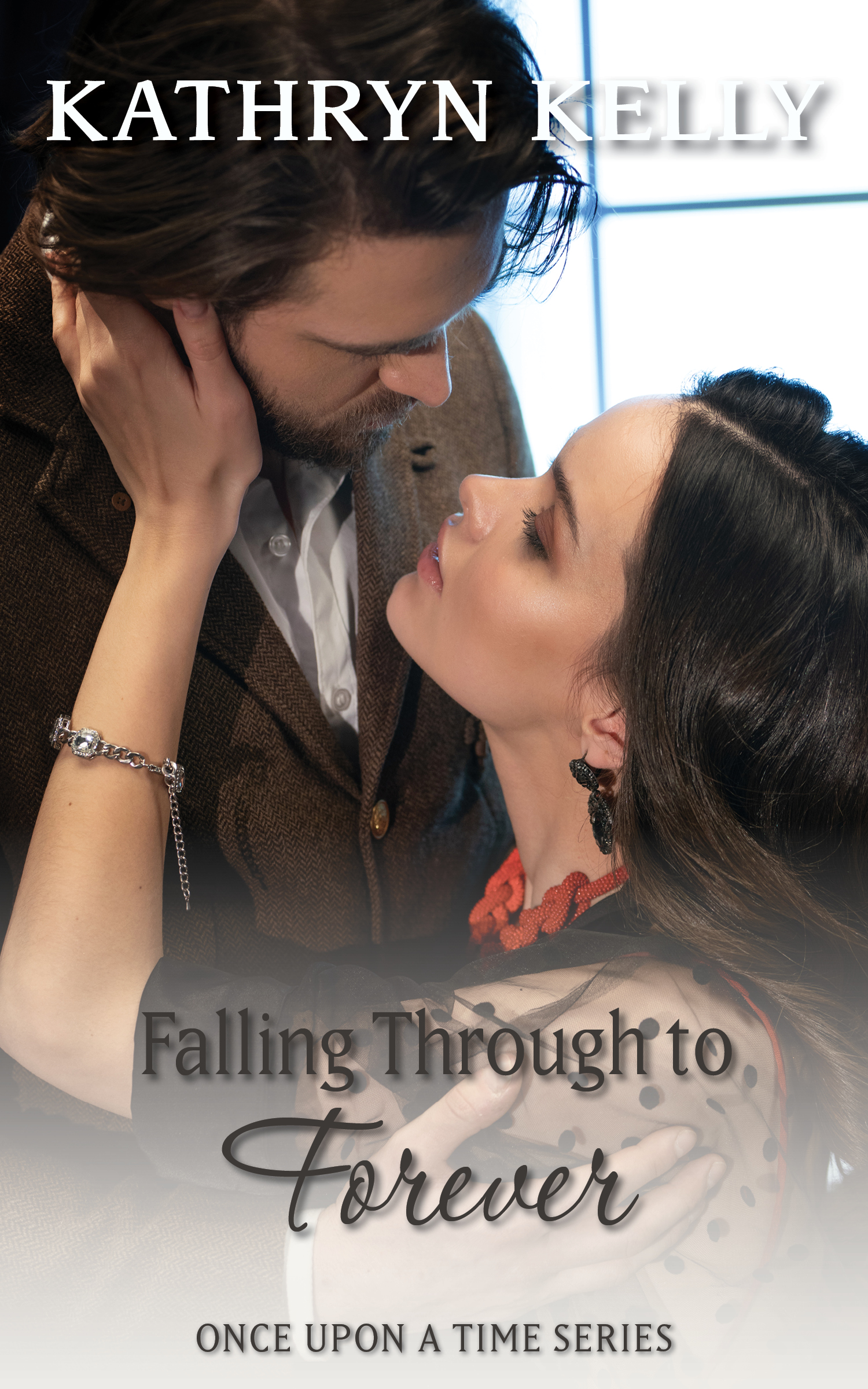 Falling Through to Forever - While a hurricane churns in the waters of Charleston Harbor, Gabriella Cooper perches on the slippery stone rubble of Fort Sumter.Her wedding dress catching in the buckles of her strappy heels cannot possibly be a good omen.When something unexpected happens during the storm, Gabriella questions life as she knows it.A standalone novel that introduces new characters into best-selling author Kathryn Kelly's Once Upon a Time world of time travel romance.