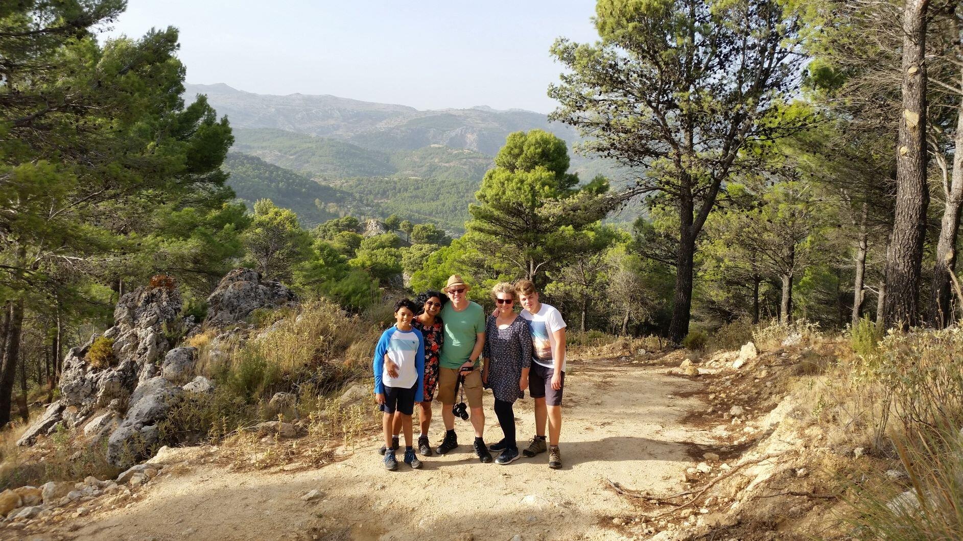 Walking in the sierra de las nieves national park