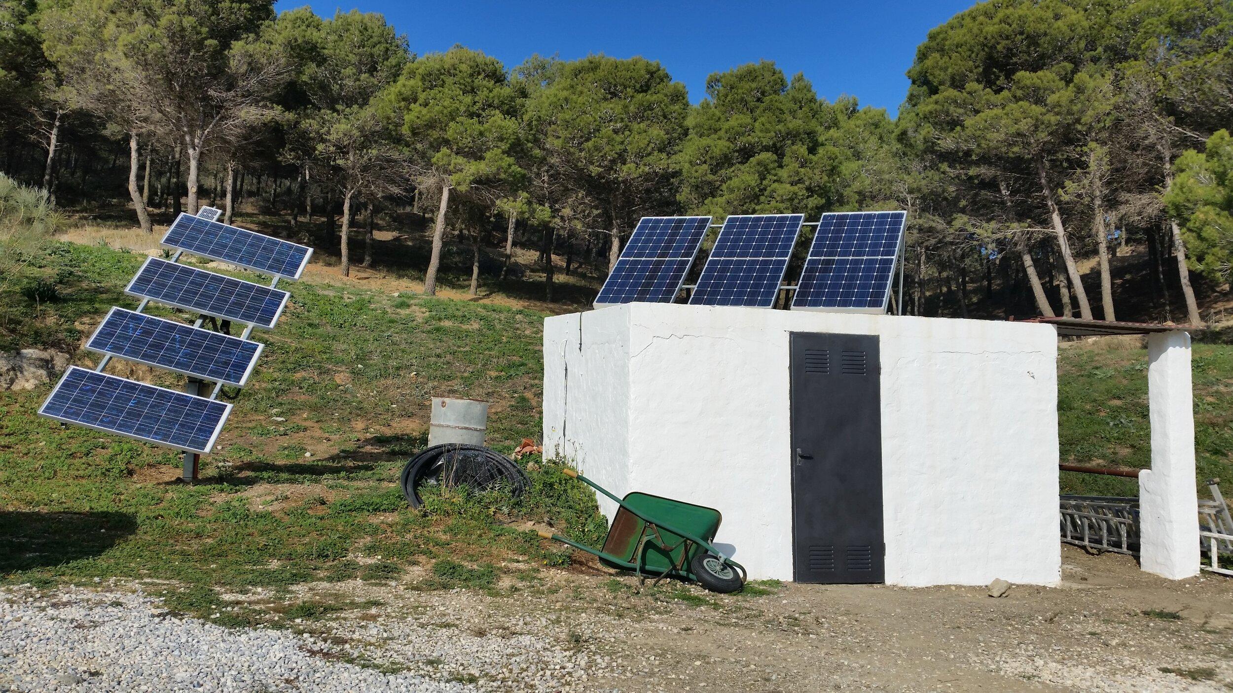 solar panels on day 1