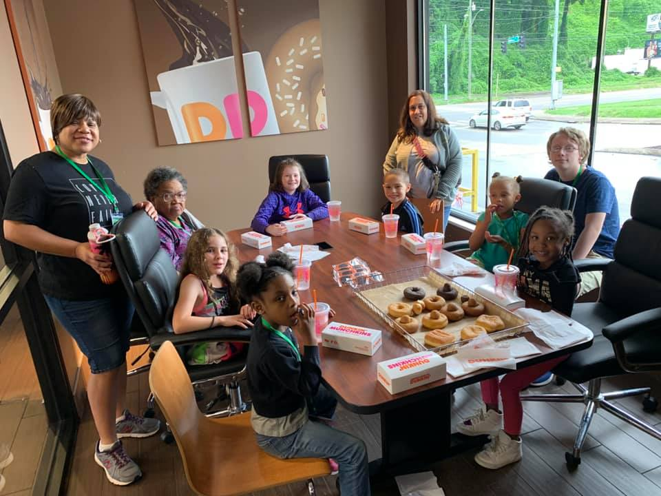 Donut workshop with the students from the Emerald Youth Foundation in Knoxville, Tennessee!