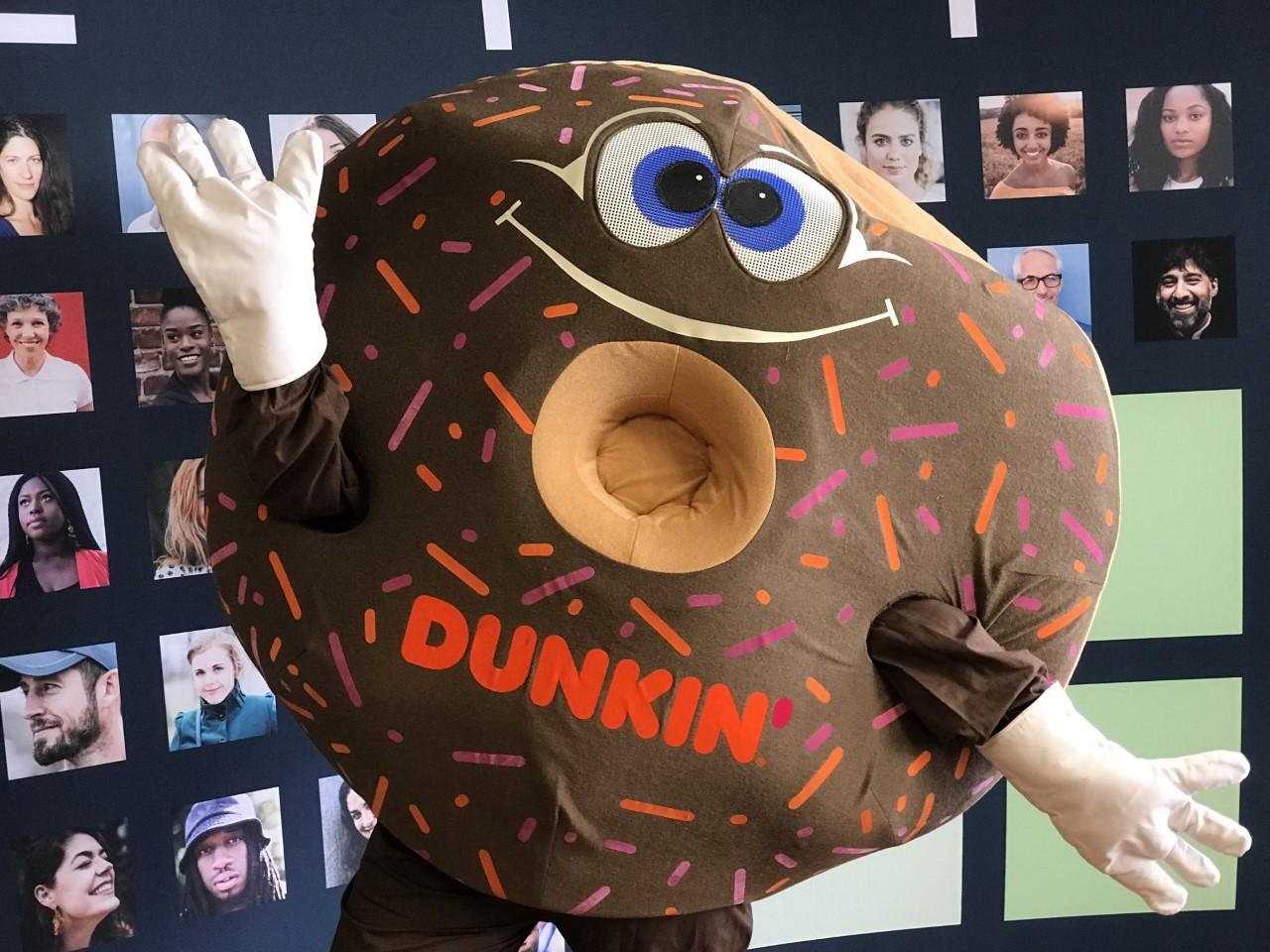 Bluemont Group Dunkin' Mascot at a Hiring Fair