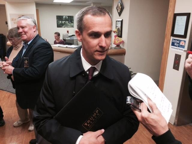 Corey Lewandowski, Donald Trump's one time campaign manager, at a campaign event in 2015. Photo by Josh Rogers.