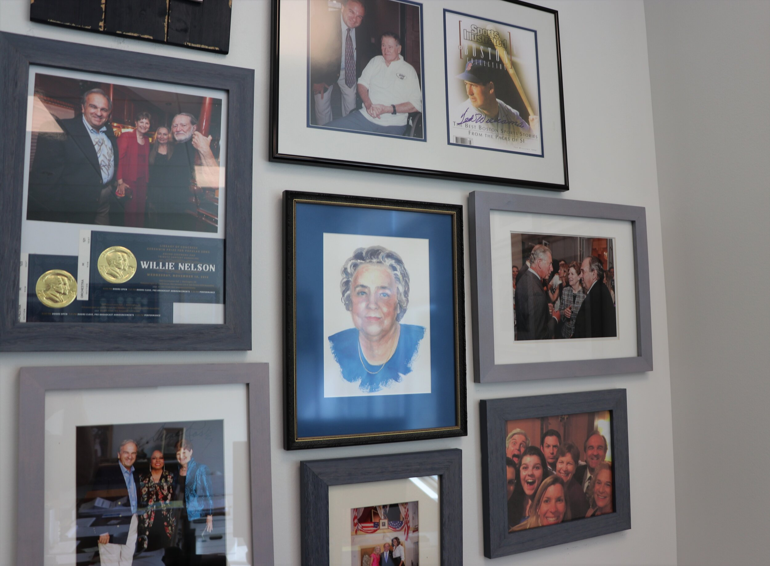 Another view of Shaheen's wall of fame. Photo by Dan Tuohy.