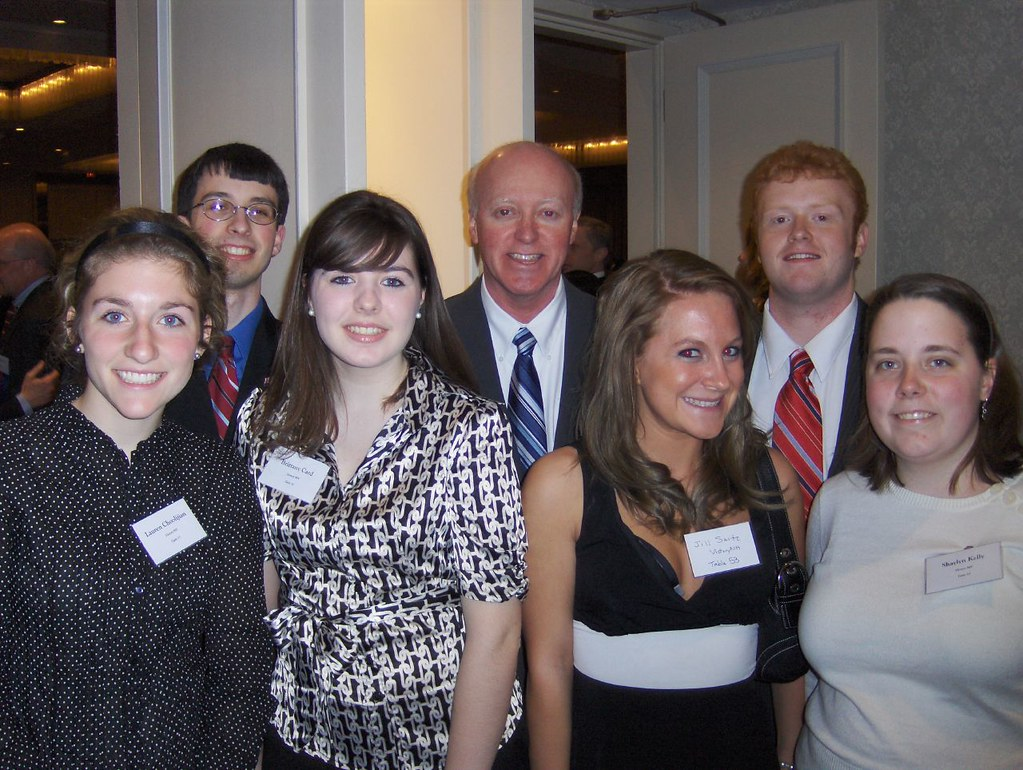 That's Secretary of State Bill Gardner in the middle - and Lauren on the far left.