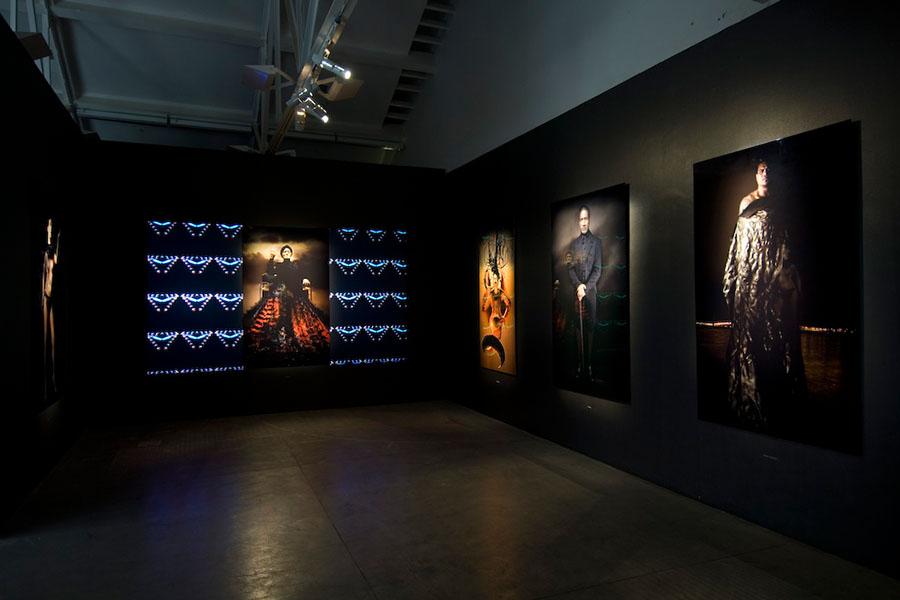 Digital Marae , installed as part of the  2008 Walters Prize . Lisa Reihana was nominated alongside Edith Amituanai, John Reynolds and Peter Robinson (winner).