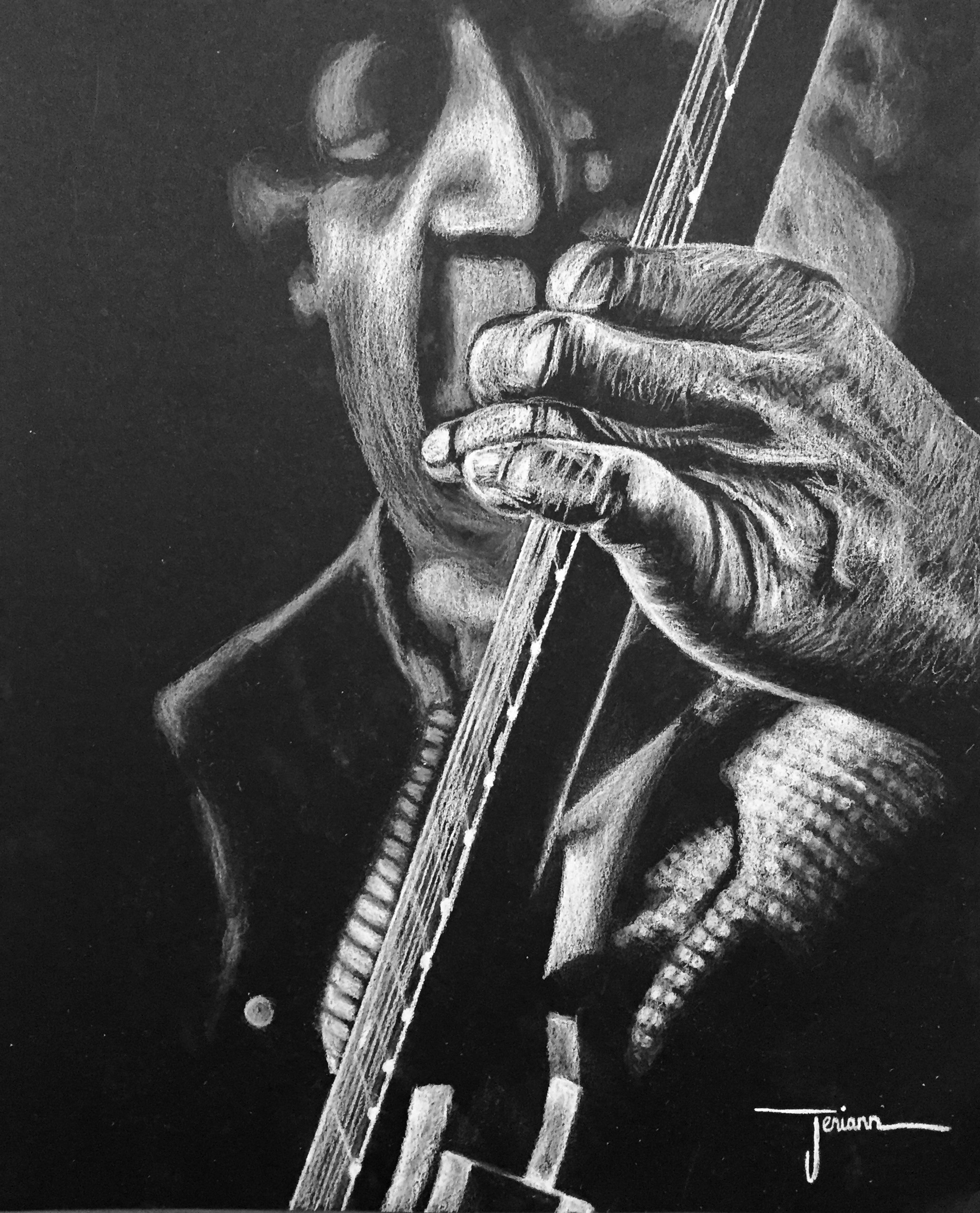 """Damn Right I've Got The Blues"" -  Commissioned Drawing"