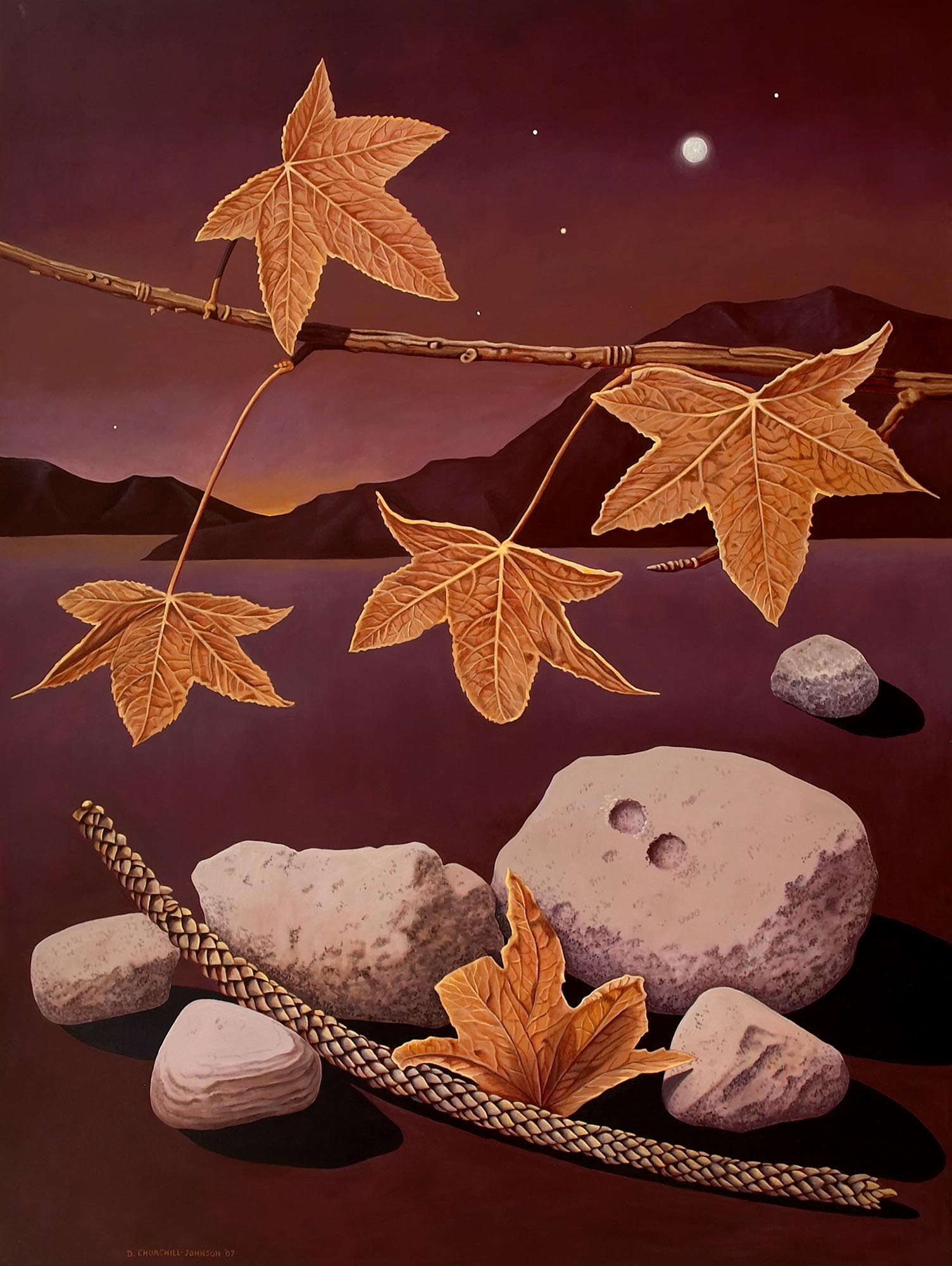Falling Stars, 72 x 54 inches