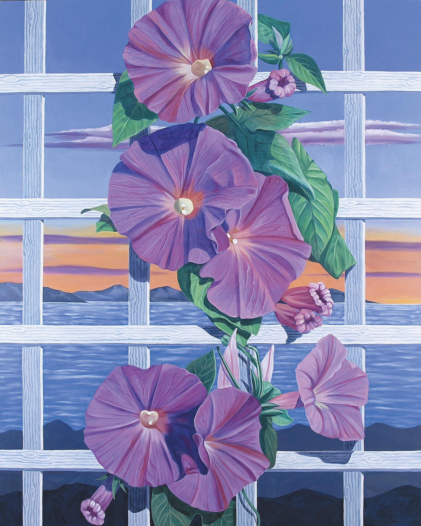 Morning Glories, 60 x 48 inches