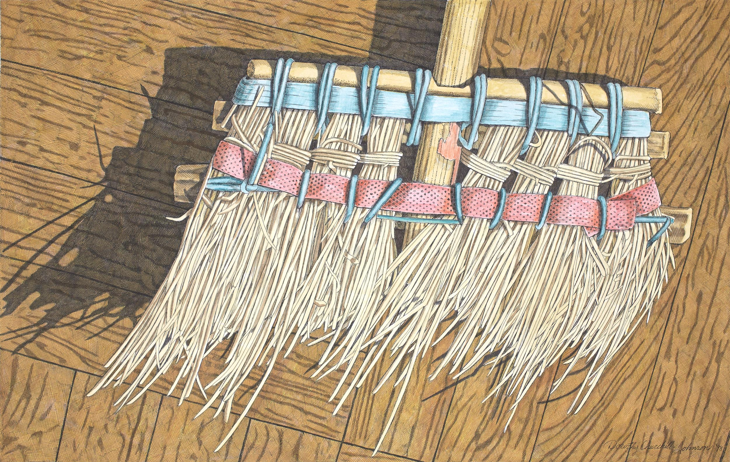 Chinese Broom, 16 x 26 inches