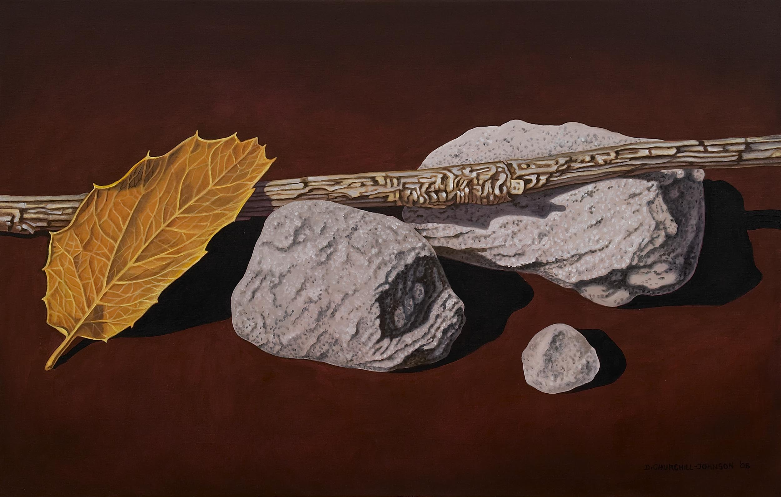 Leaf and Twig, 24 x 36 inches